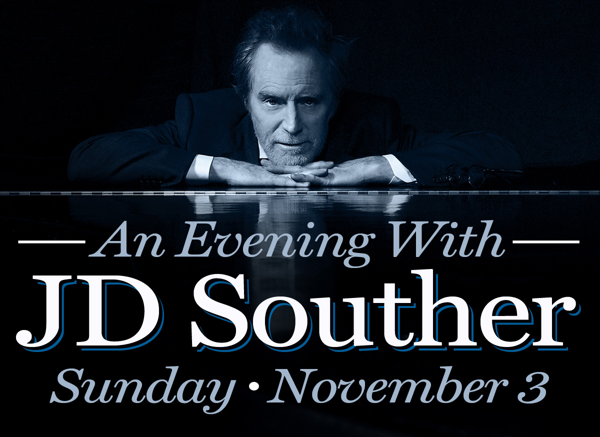 One of the great singer-songwriters of his - or any generation - Amarillo native J.D. Souther returns to the Cactus Theater stage on Sunday, November 3rd at 7:30 pm.