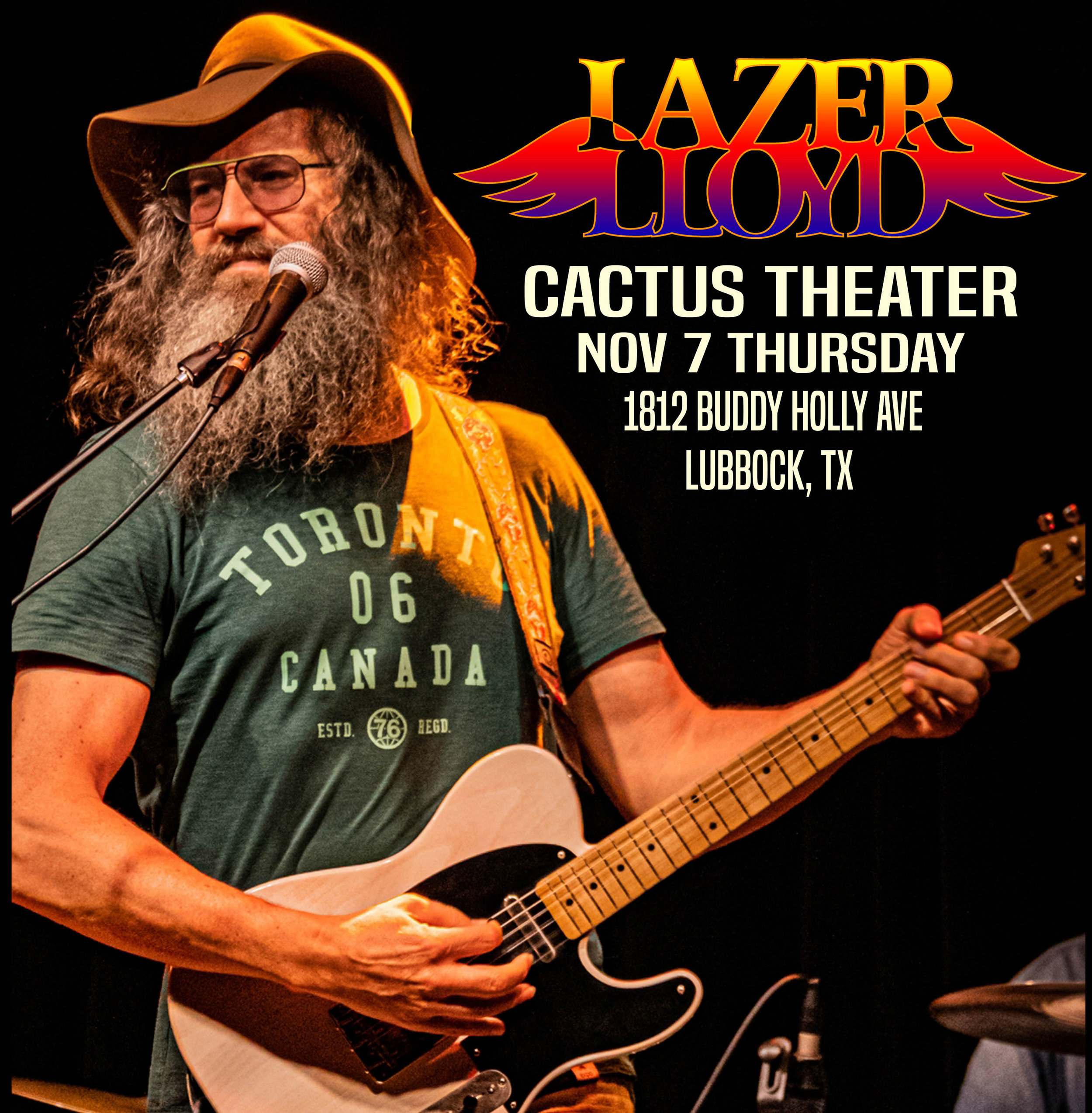 Championing a variety of musical styles with cross country tours to deliver his original music, Lazer Lloyd makes his debut at the Cactus Theater on Thursday, Nov. 7.