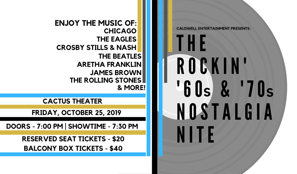 Get ready for an amazing night of classic rock 'n' roll….Friday, October 25!