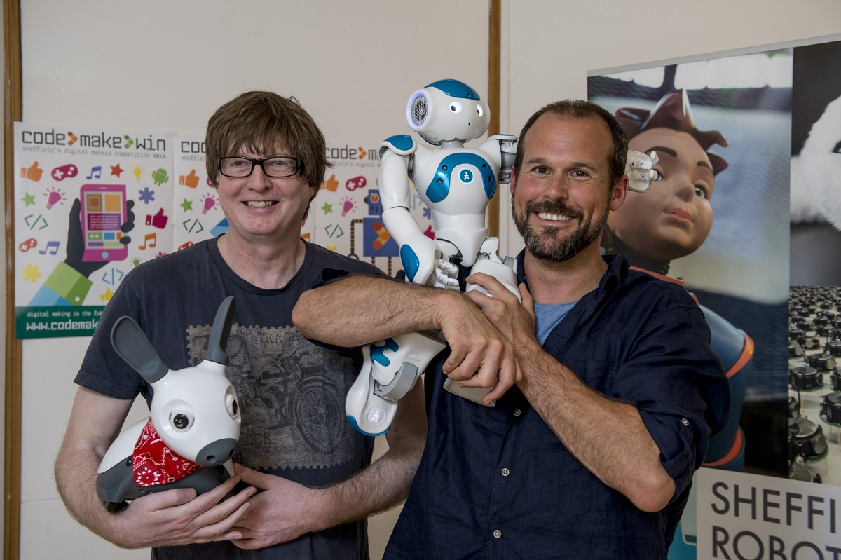 Tony and Micheal exploring the potential for robots to make a game-changing contribution to human society.