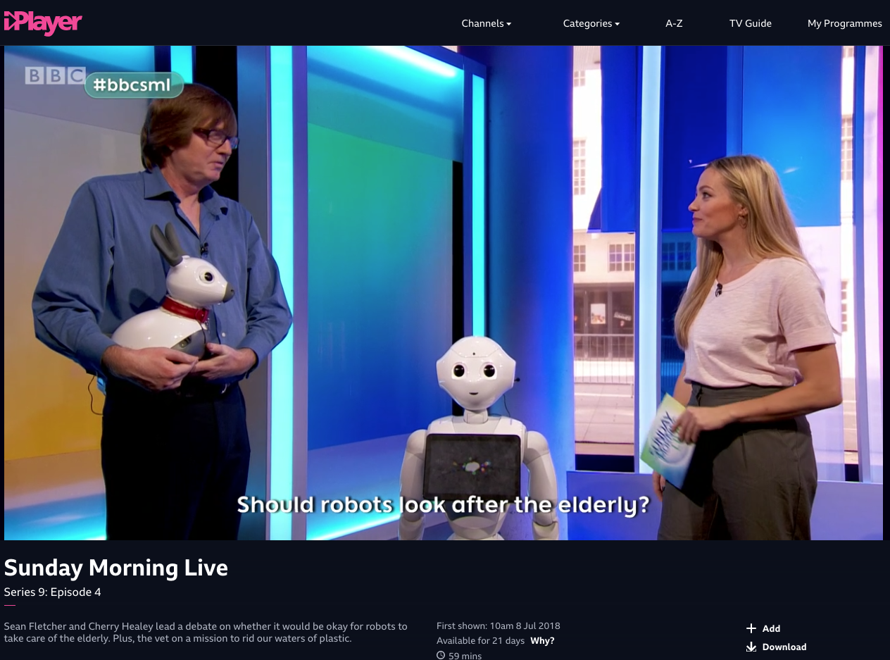 Should robots look after the elderly?