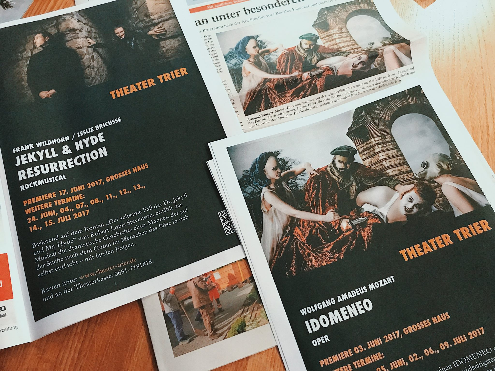 Idomeneo in the press along with Dr. Jekyll & Hyde resurrection - (Layout design (Ensch-Media)