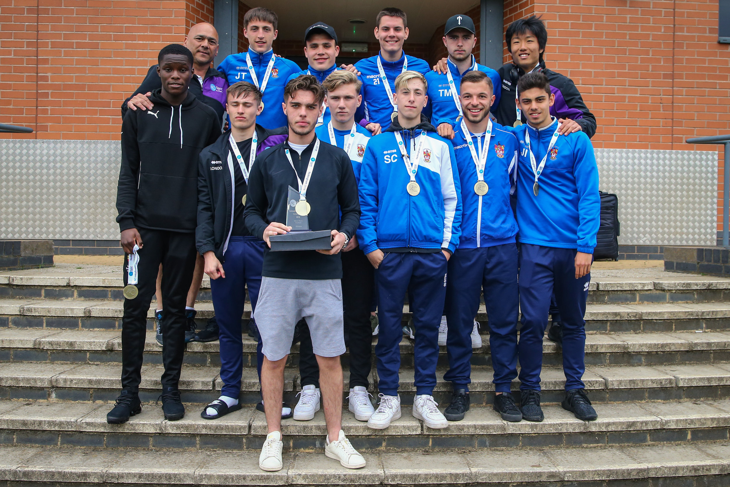 Kingston College - men's football winners at 2018 National Championships