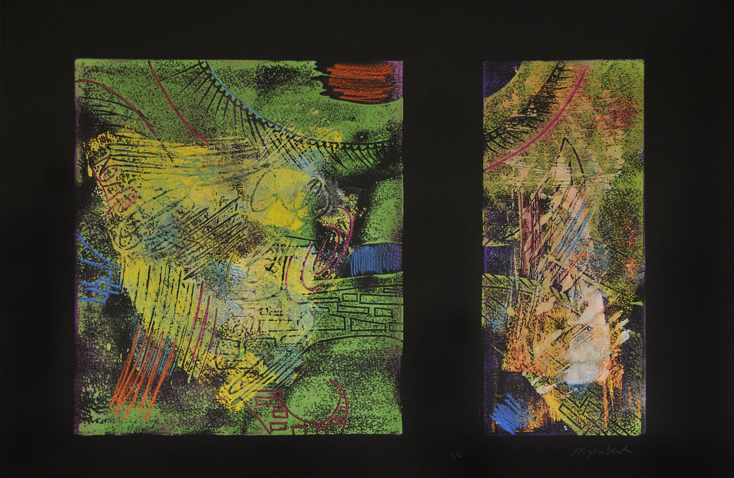 E-zee Cut, Denril, Colored Pencil, 22x15