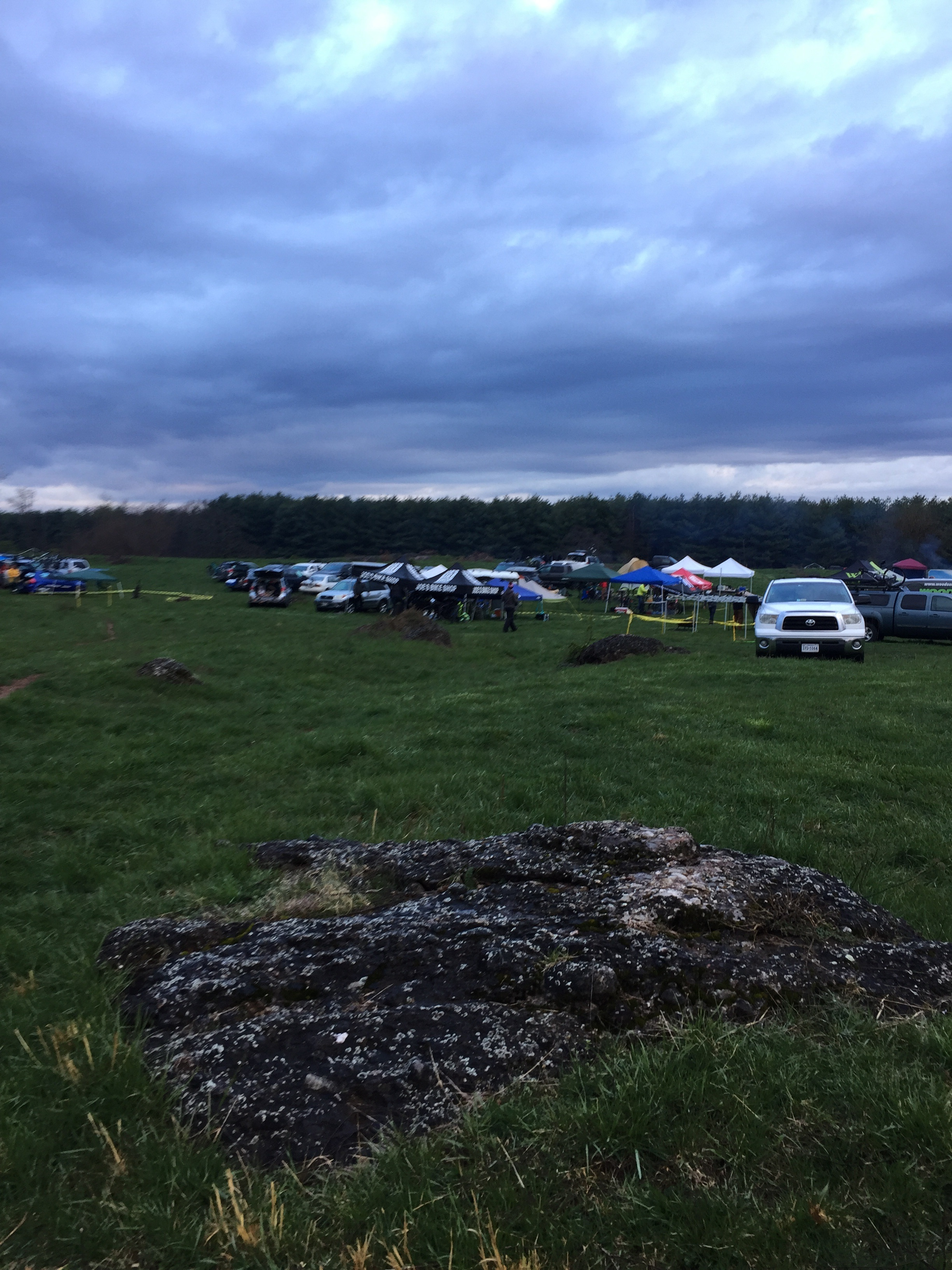 Angry skies at the start of Bakers Dozen 2016