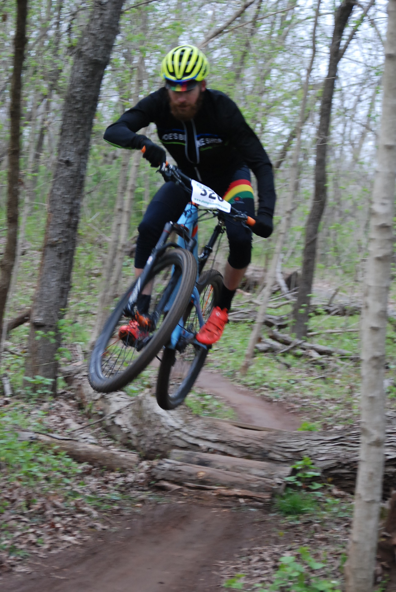 Ethan getting rad on course