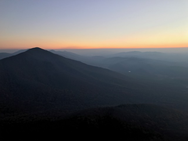 Awaiting sunrise on Sharptop