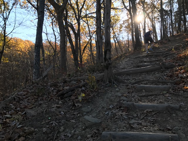 Steep sections up to Tinker Cliffs