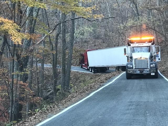 Truck stuck near the top of 12 o'Clock Knob