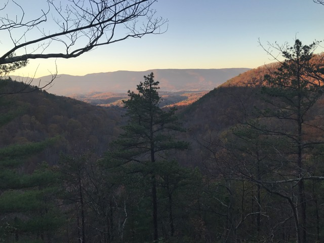 Sunset over the Salem Valley from Poor Mt.