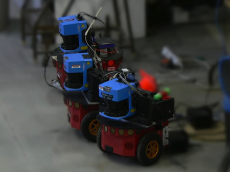 Pioneer robots from Dias' lab