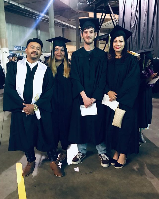 At the beginning of every quarter, I make 2 promises to my students who take my ABE/GED Prep class. (1) Abtaining your GED and going to college are possible through discipline, dedication and hard work. NOTHING IS IMPOSSIBLE. And (2) Once you get your creditials, I will be there front and center cheering you on at Commencement! Never thought I'd put on my cap and gown again but here I am as an instructor this time and still ever as proud to be part of your educational journey! Congrats to all of our 2019 @cloverparktech graduating students especially my students Manuela Schneider, Nicholas Demeza and Sherrell Young. This is only the beginning. Thank you for inspiring me and continue to change the narrative and write your own legacies! #graduationday🎓 #dedication #hardwork #studentsuccess #teacher #knowledgeispower