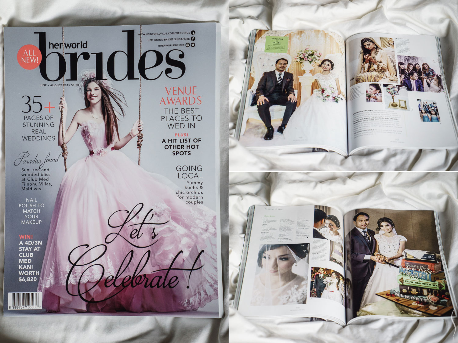 Simplifai Studios' feature at Her World Brides Singapore magazine.