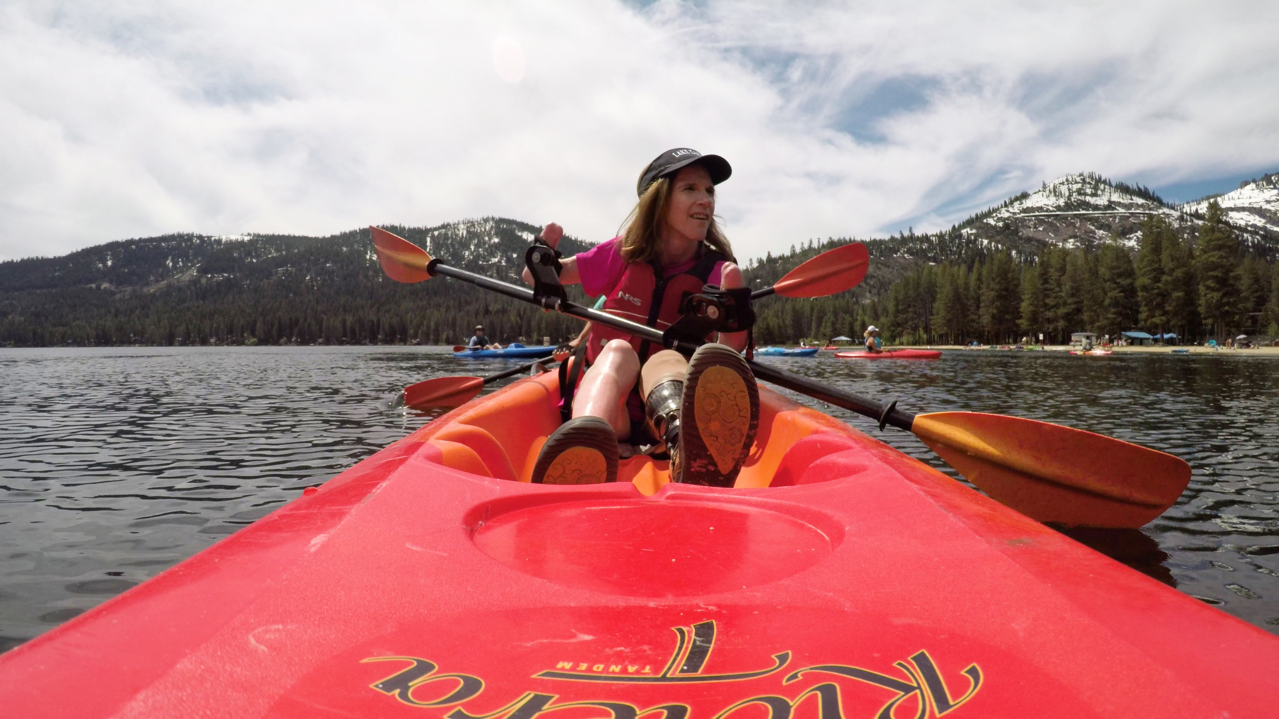 amputee kayaking