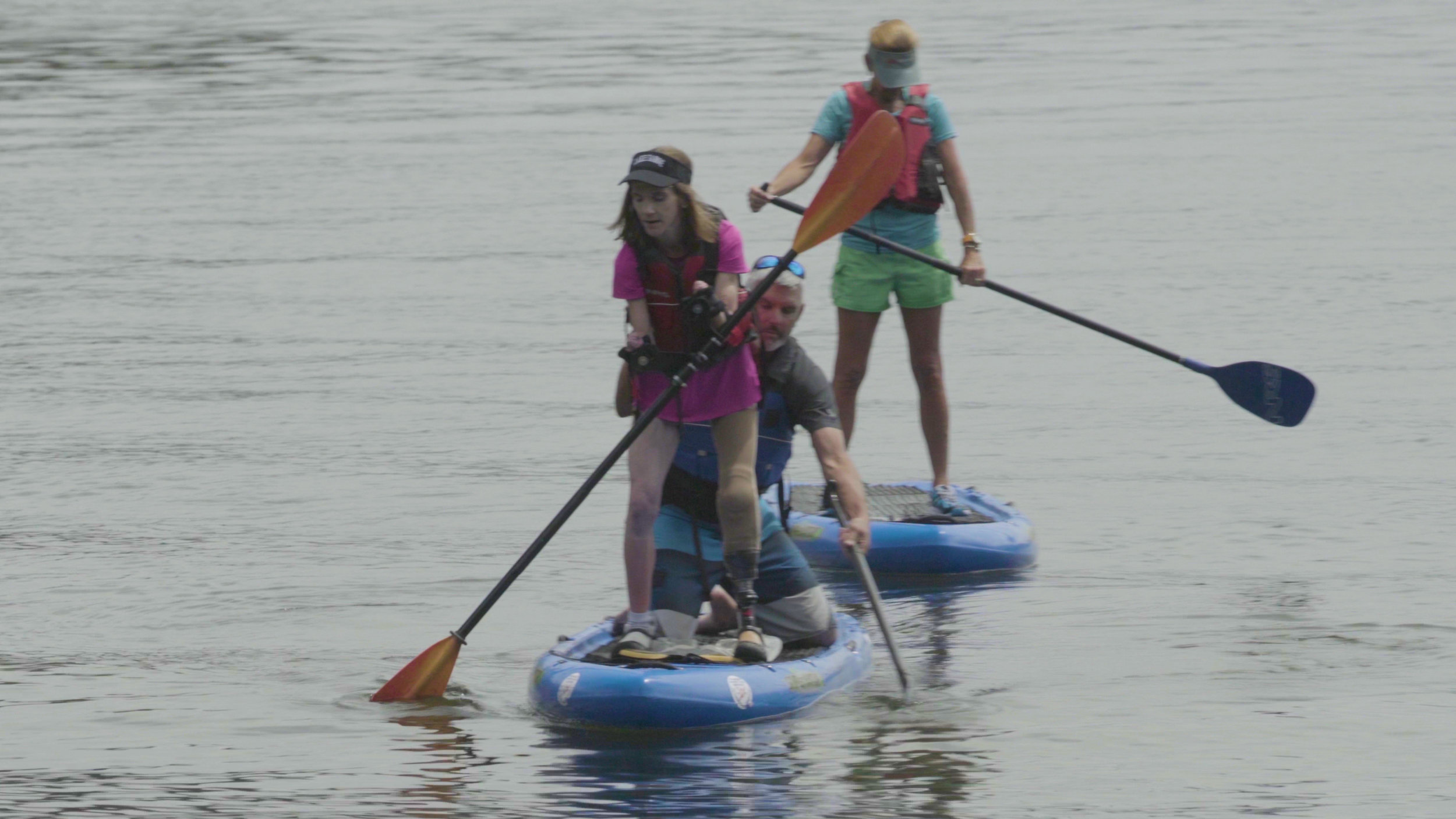 amputee paddle boarding