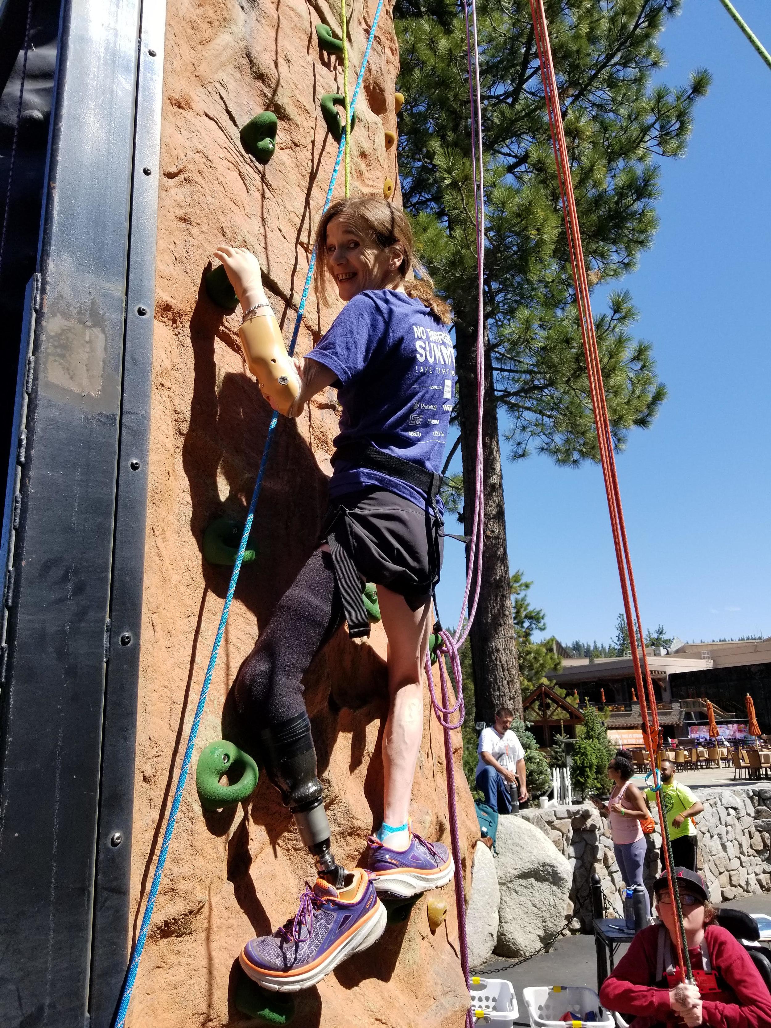 amputee climbing