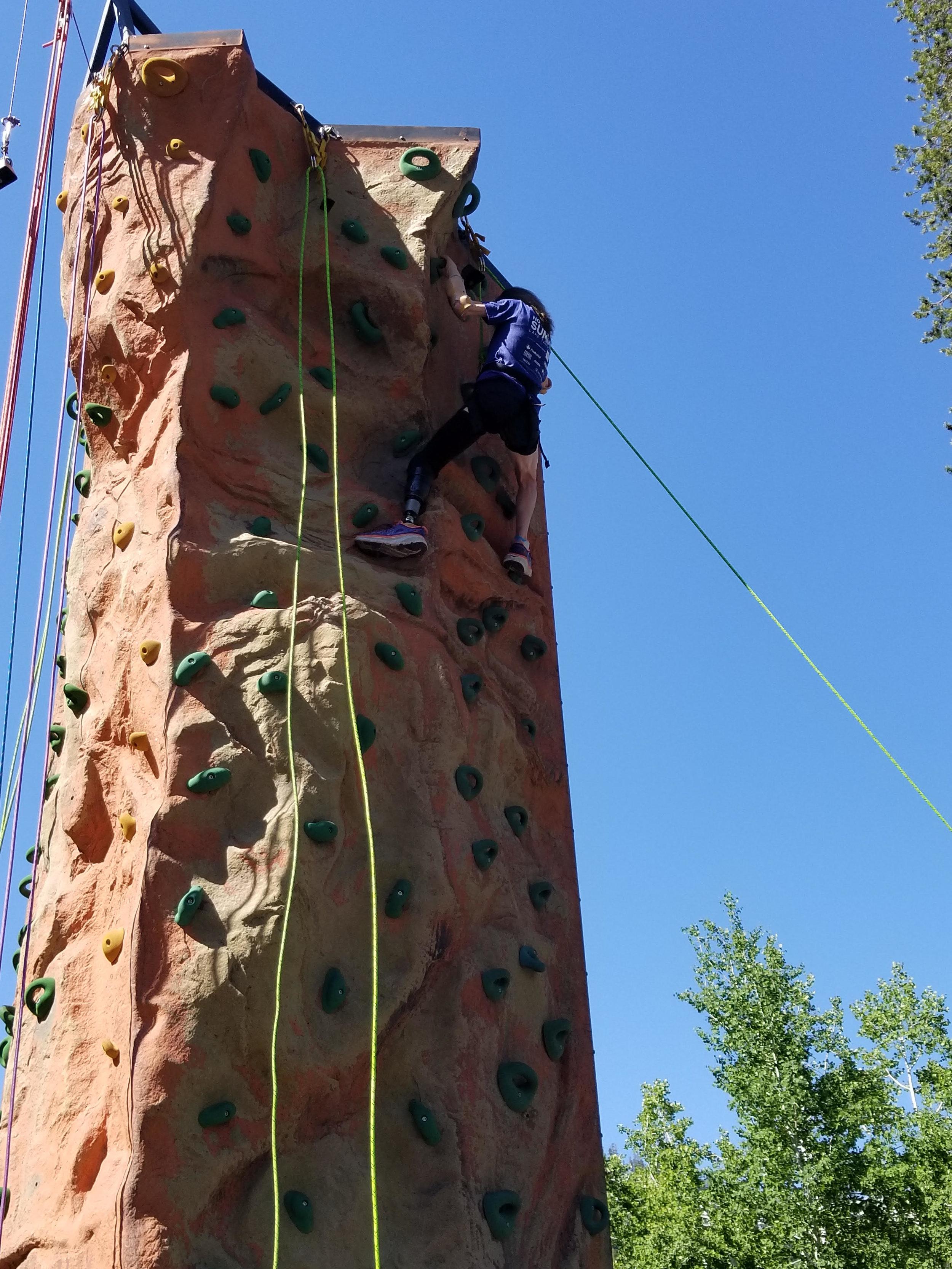 amputee climbing wall