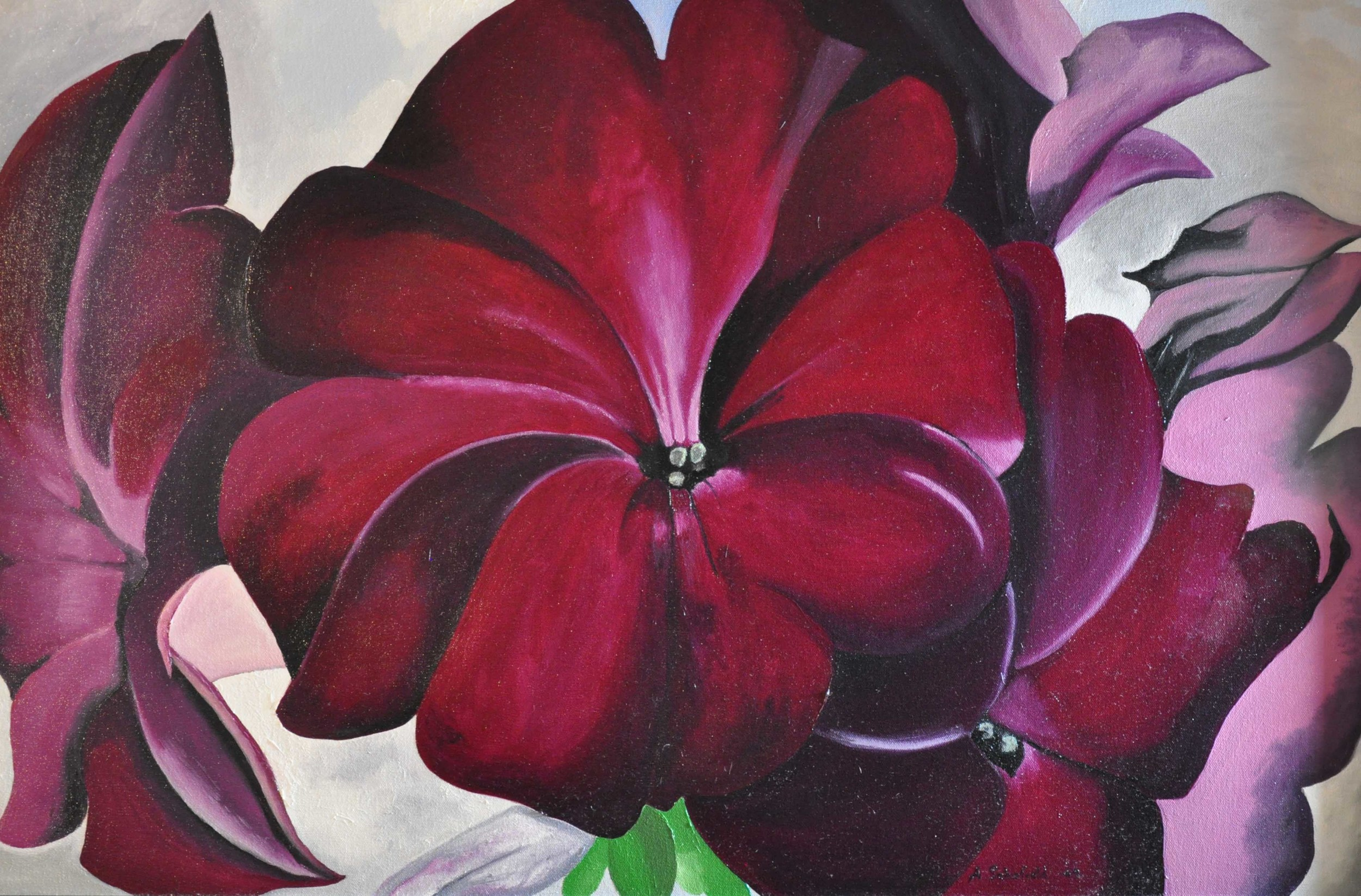 Purple Orchid (Georgia O'Keefe Copy)