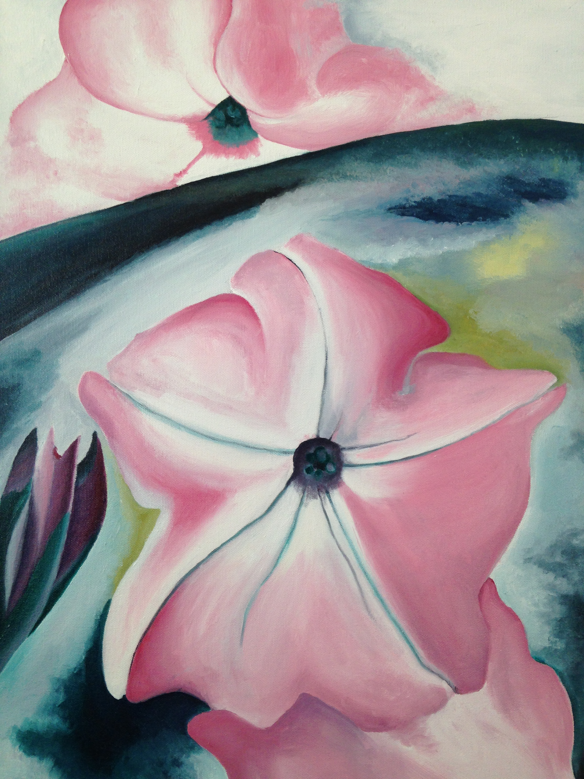 Georgia O'Keefe Copy (Pink Flower)