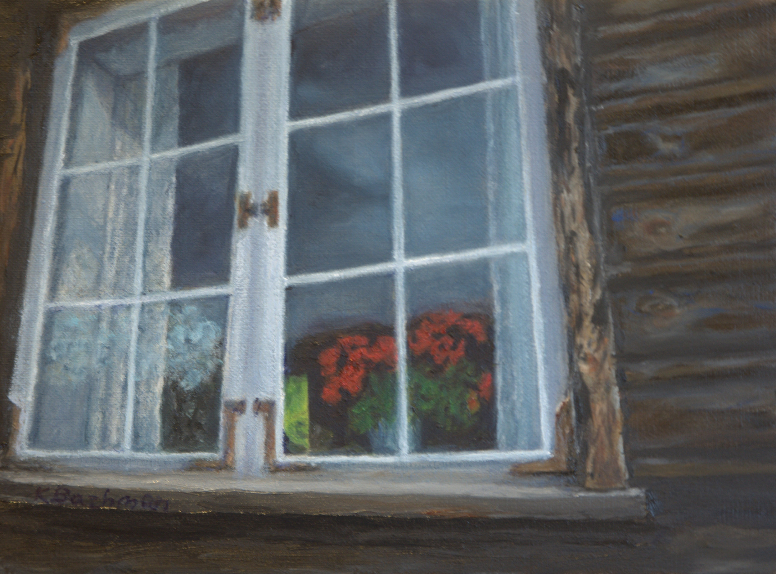 Geraniums in the Window