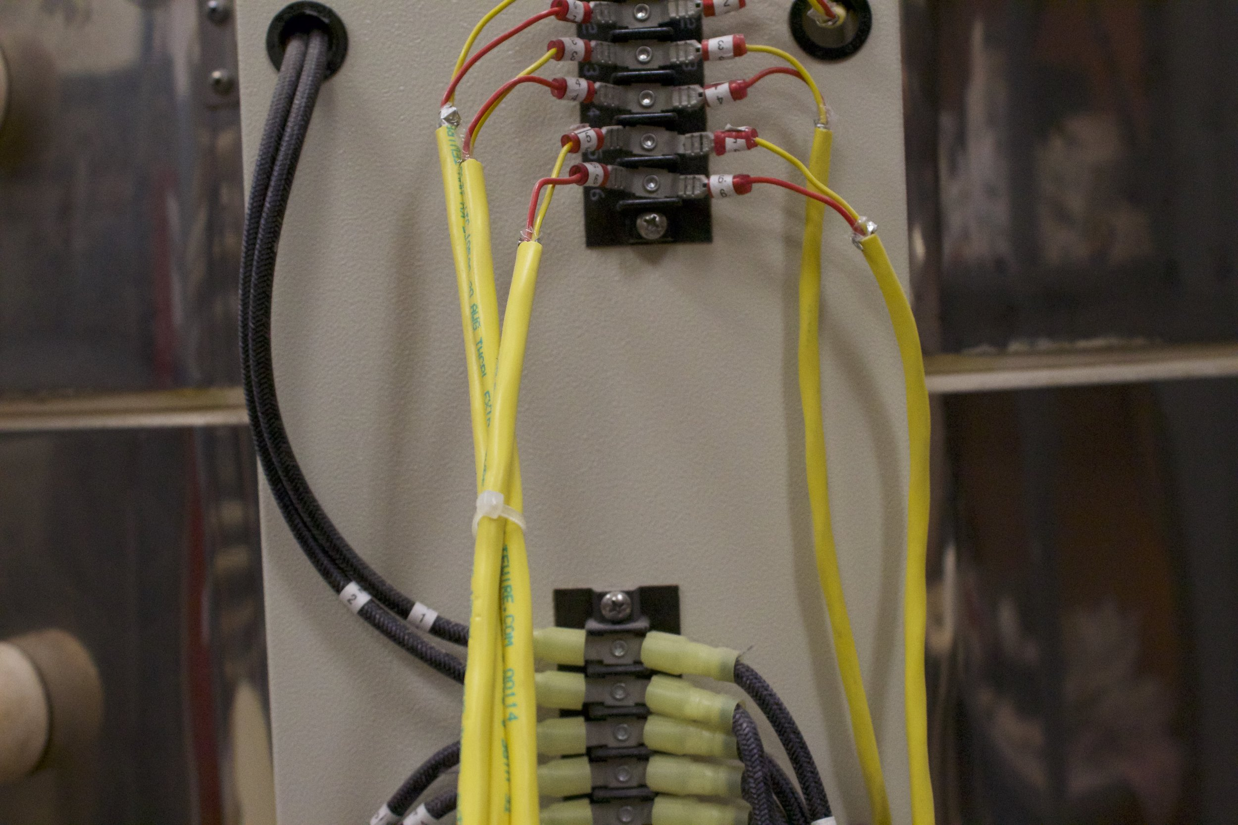 newly installed wiring harness