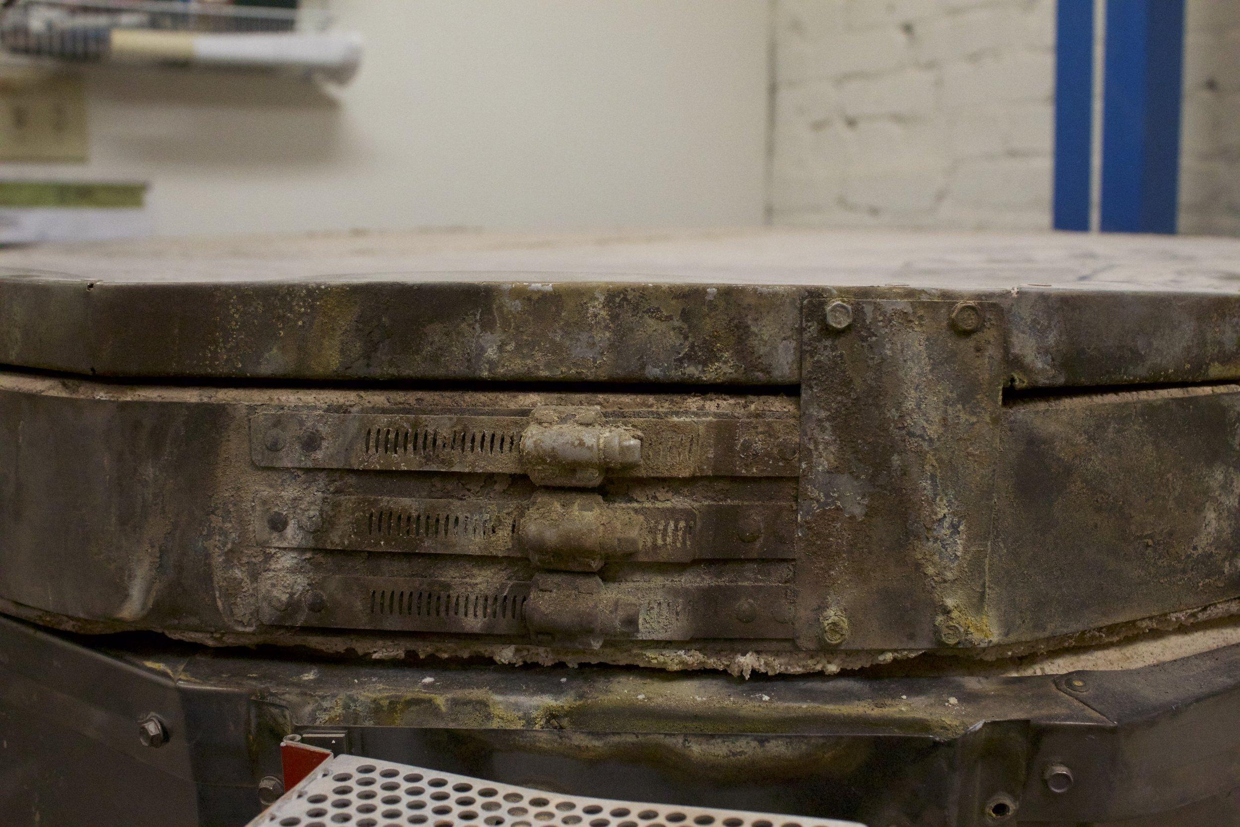 moisture damage from firing wet work