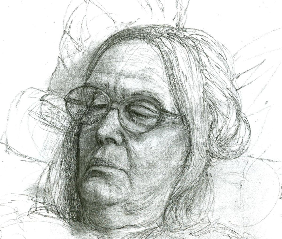 """Freya, pencil, 7"""" x 9"""" - by Rowan Pope"""