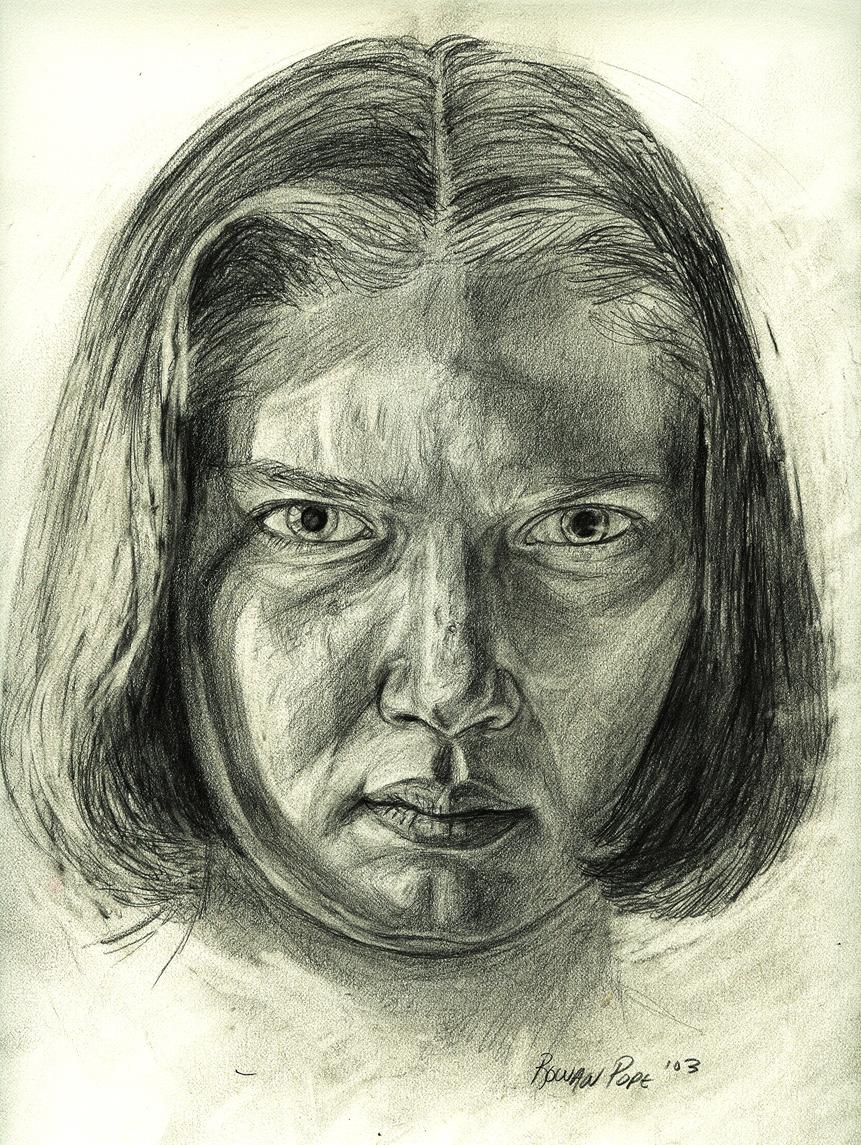 """Portrait of a Friend, pencil, 11"""" x 9"""" - by Rowan Pope"""