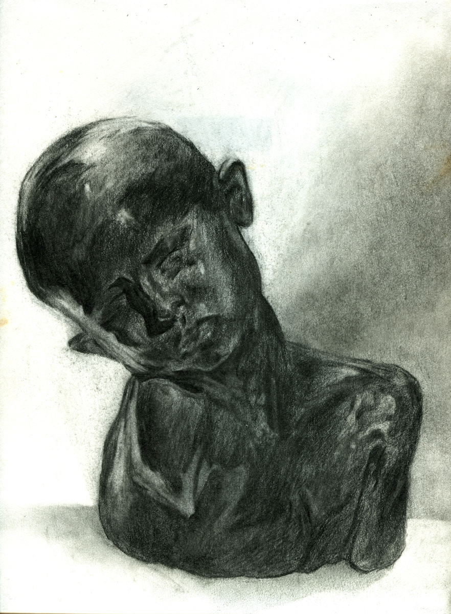 "Sculpture Drawing 1, pencil, 10"" x 7"" - by Bly Pope"