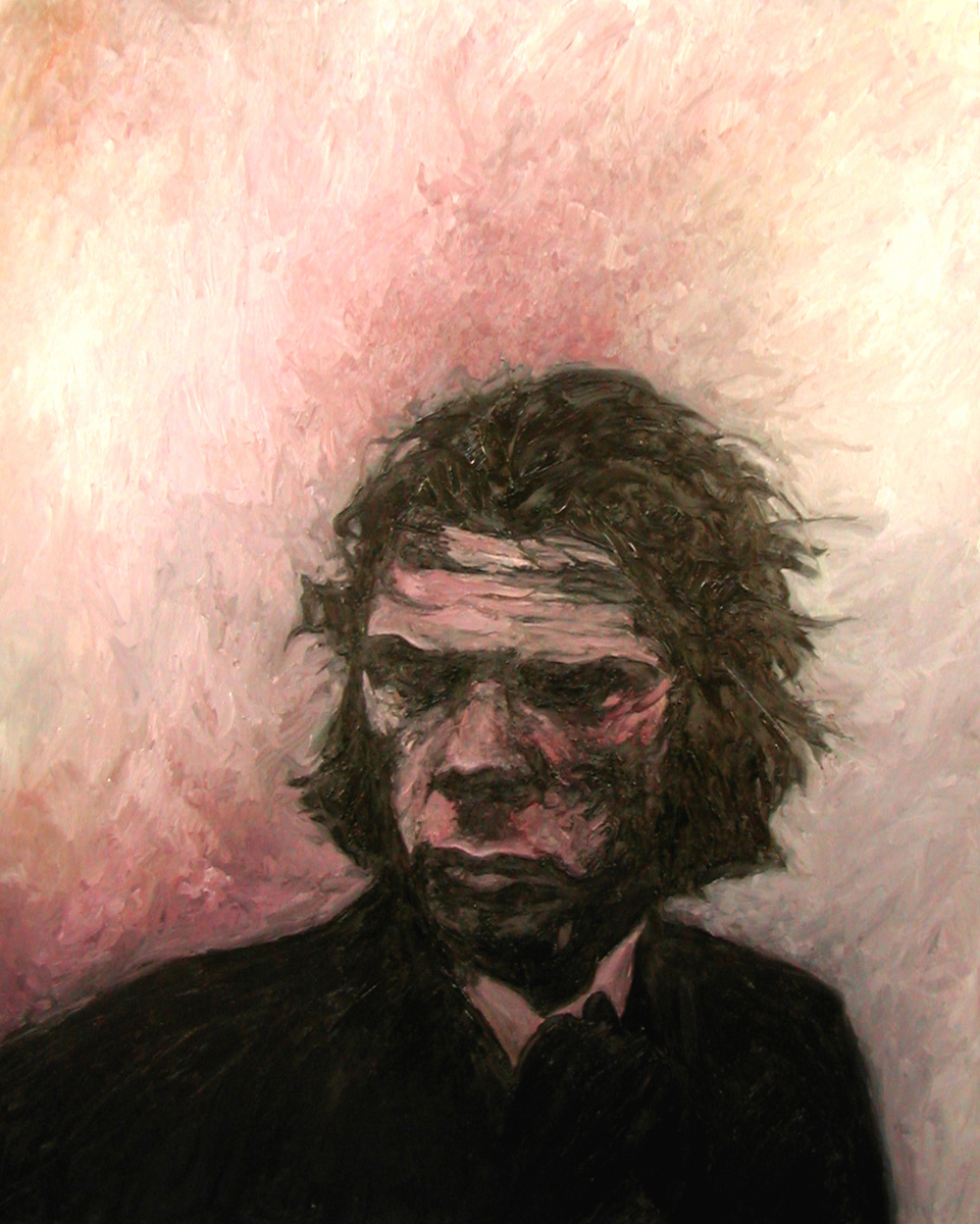 """Nick Cave 1, oil, 48"""" x 36"""" - by Bly Pope"""