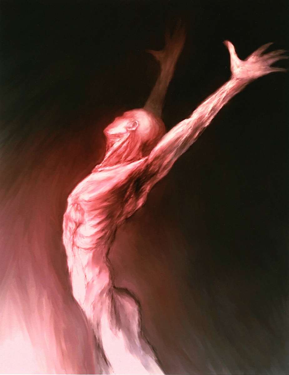 """Open Arms, digital painting, 7"""" x 5"""" - by Bly Pope"""