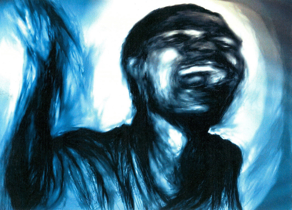 """Screaming Figure, digital painting, 7"""" x 10"""" - by Bly Pope"""
