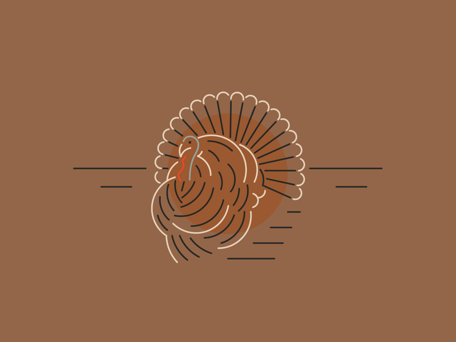 Turkey Day - Wanted to have some fun with all the circles that make up the shape of a turkey, for this Thanksgiving card.