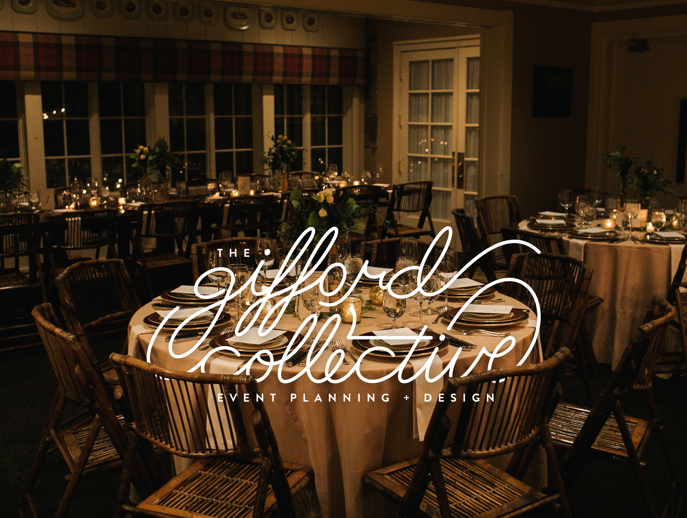 The Gifford Collective - The Gifford Collective (or TGC) is an event planning and design company run by the lovely Kristin Huff Gifford. For this logo she wanted something sophisticatedly and not, too, girly.