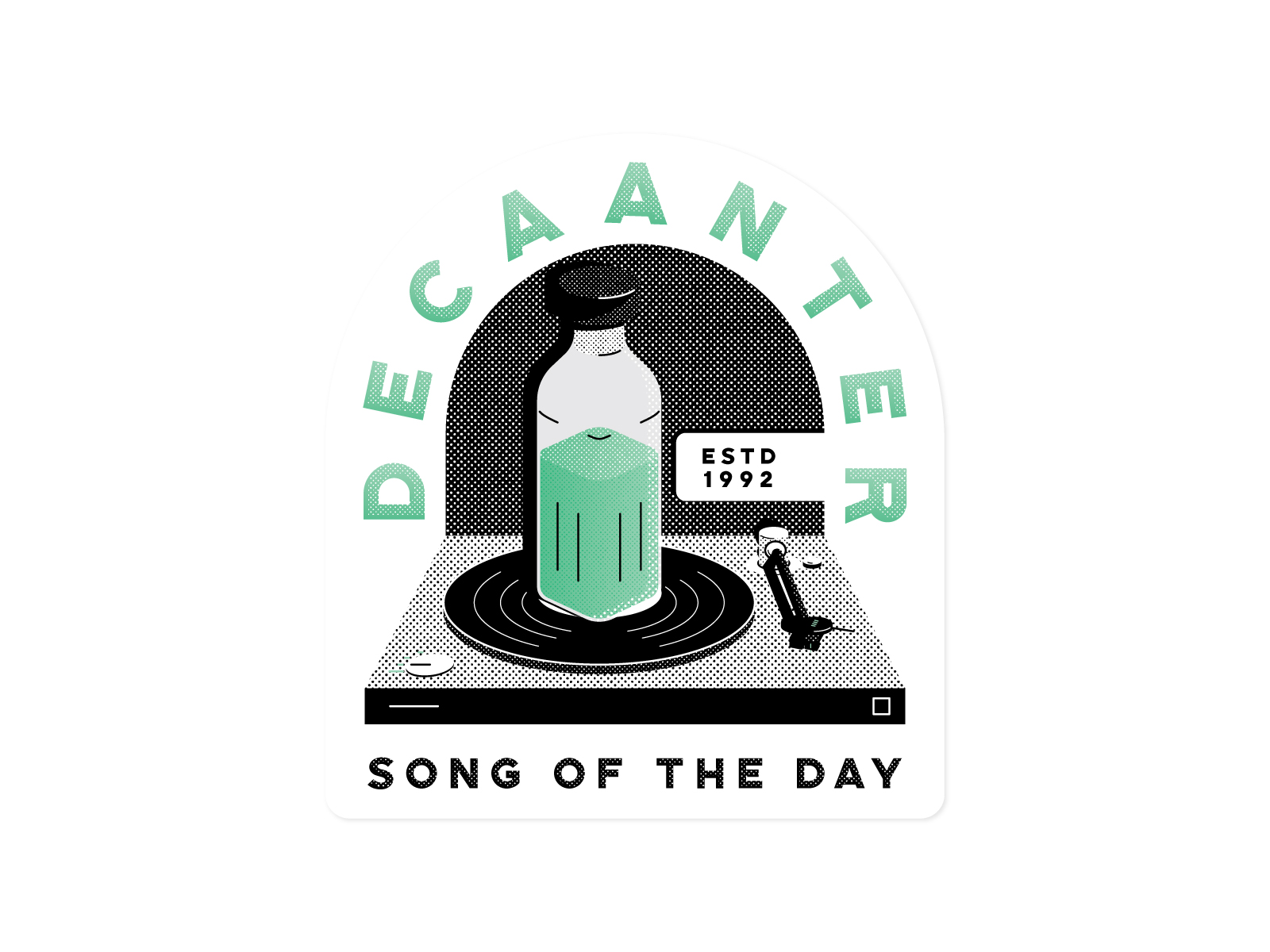 """Song of the Day - Sticker design for @decaanter's """"song of the day"""" posts on instagram."""