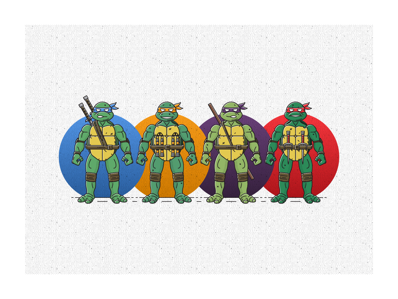 Party dudes - These turtles have been and will always be some of my favorite superheroes! Mikey being my absolute fave. PARTY!! This is a series of these fellas in action figure form.
