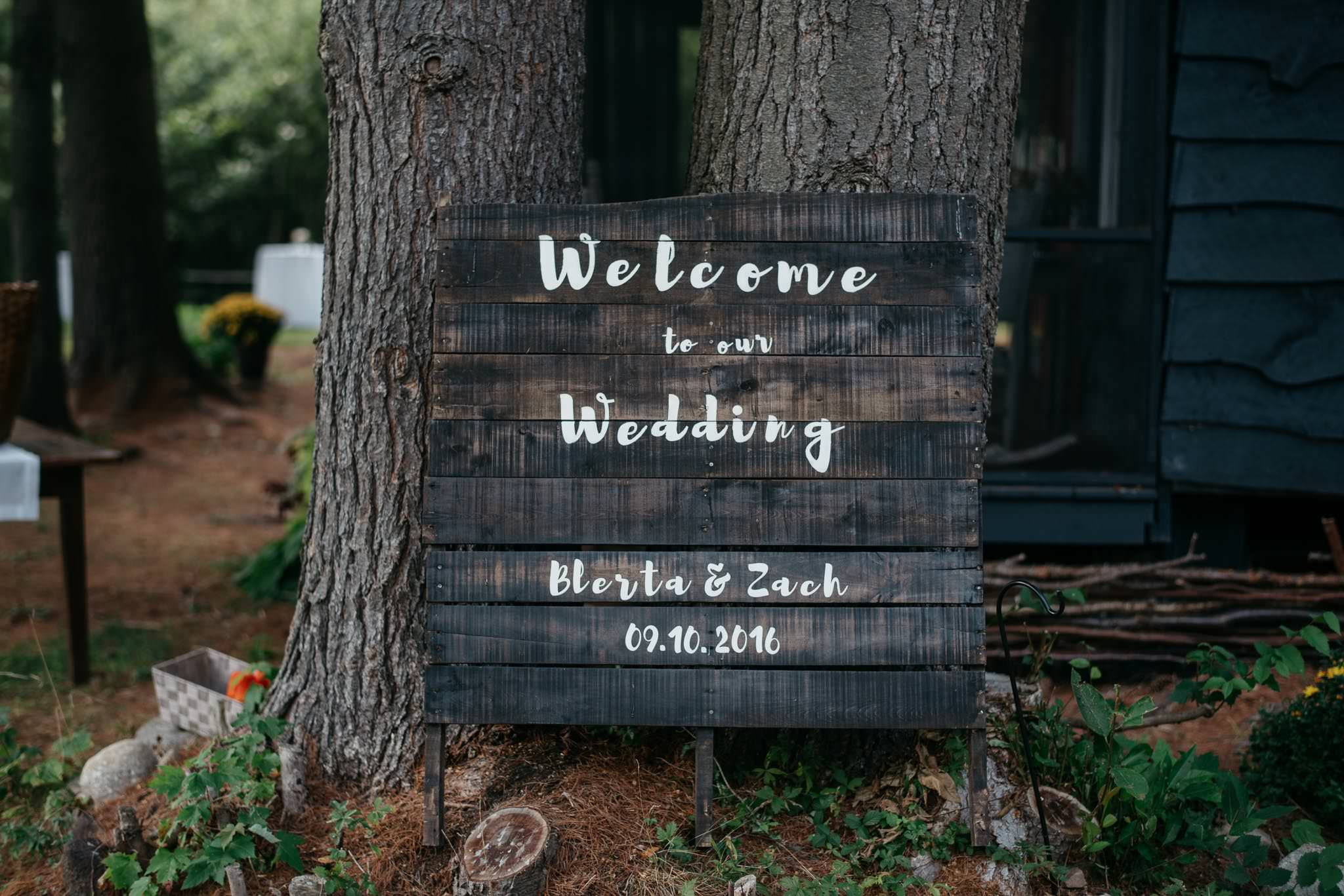 - Zack and Blerta were married in September at the edge of Wintergreen Lake just before sunset. They took a private row down the lake before returning to celebrate with their friends and family.Later that evening,guests emerged from beneath the tent to watch a fireworks display under the stars.