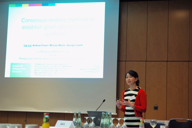 Presenting findings at Berlin ISCMR 2017 conference workshop