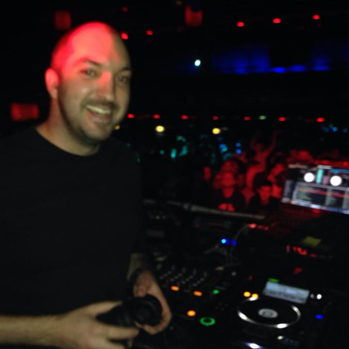 Mike warming up for Skrillex at Building Six in London