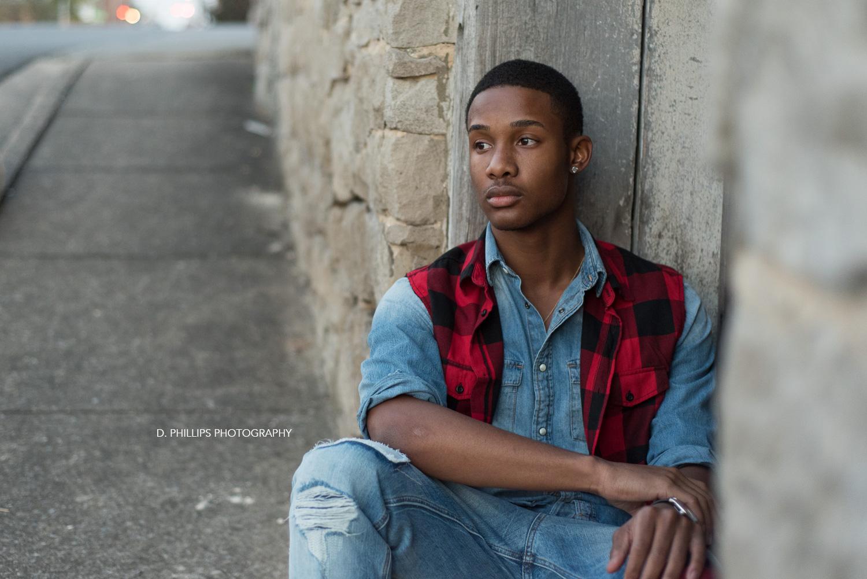 Teen male modeling headshots | D. Phillips Photography
