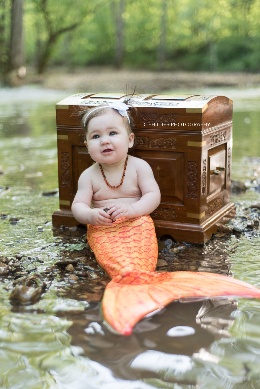 Children's mermaid photos // www.dphillipsphotography.com