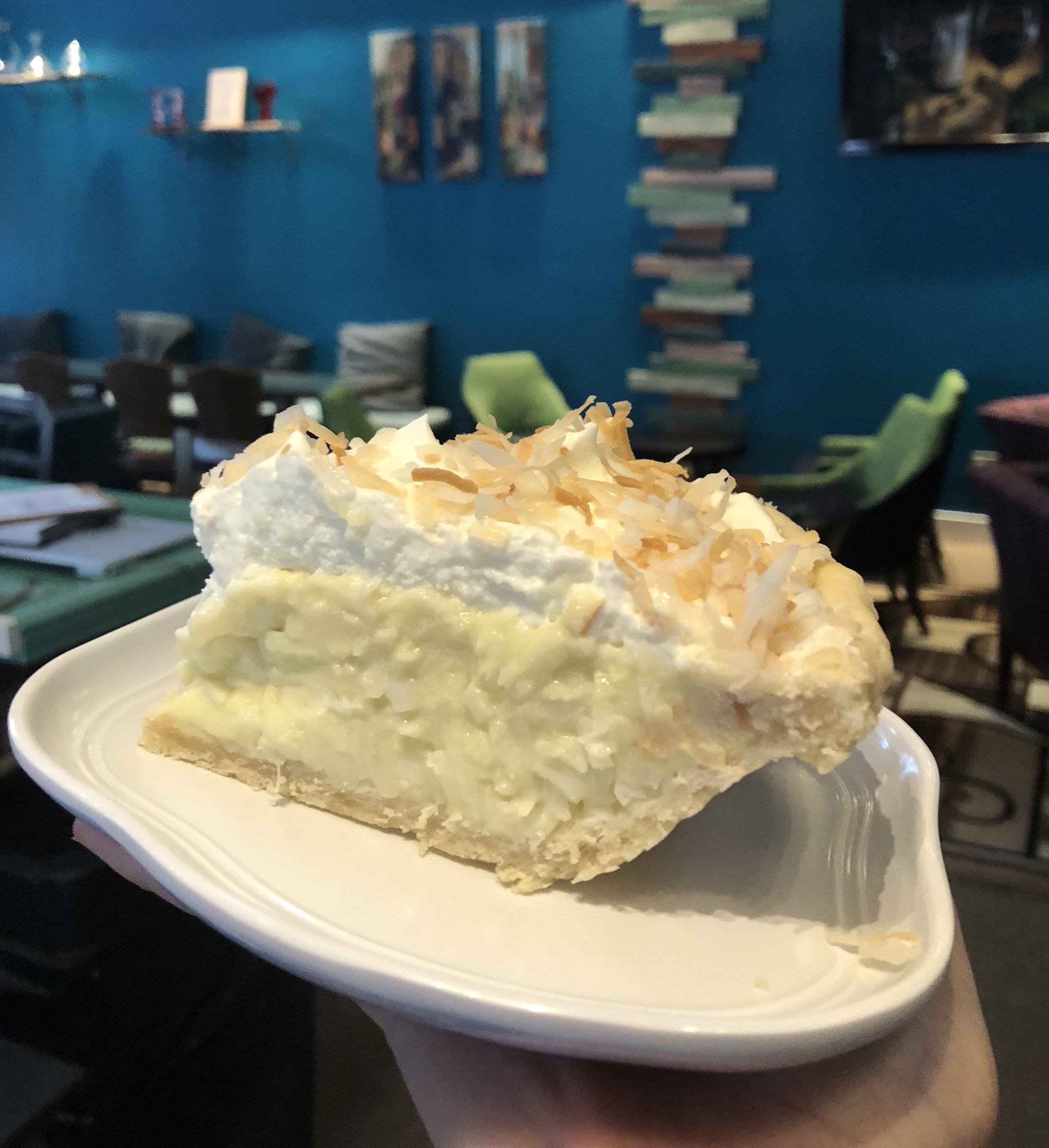 Coconut Cream Pie, this weekend's featured dessert!