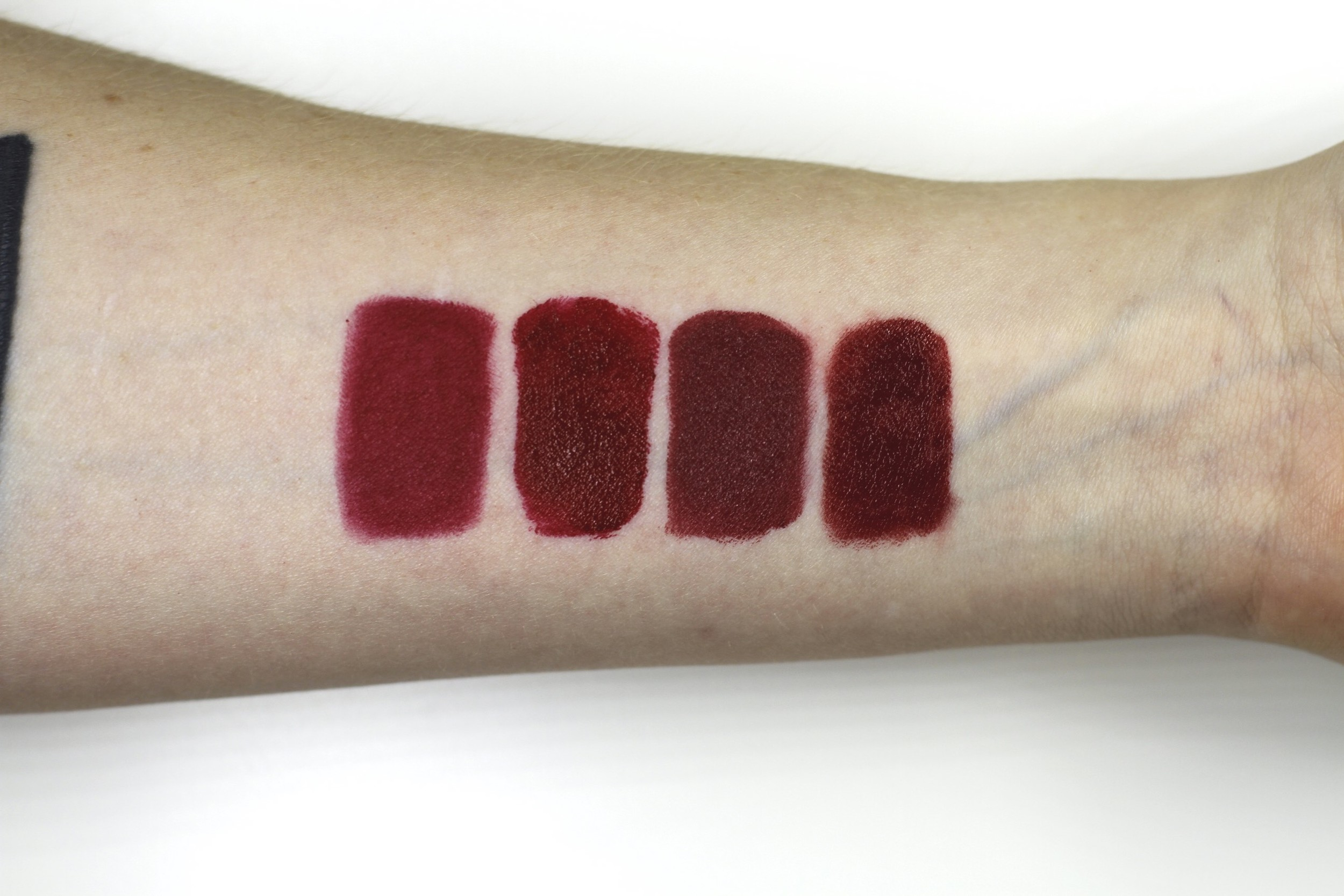 Left to right: Cruella, Bad Blood, Cinnamon Spice, R02