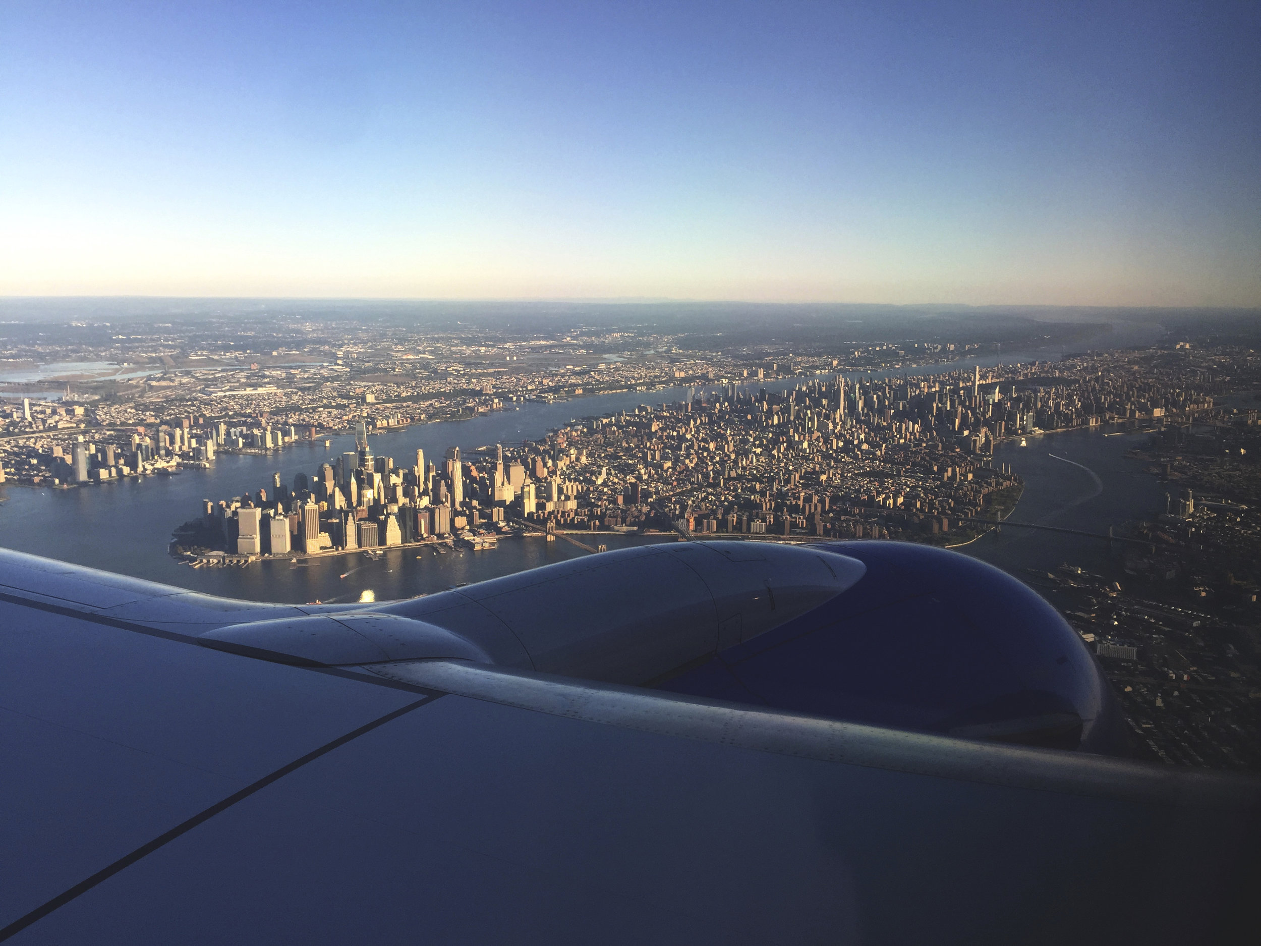 Flying into the city and recognizing all the landmark buildings