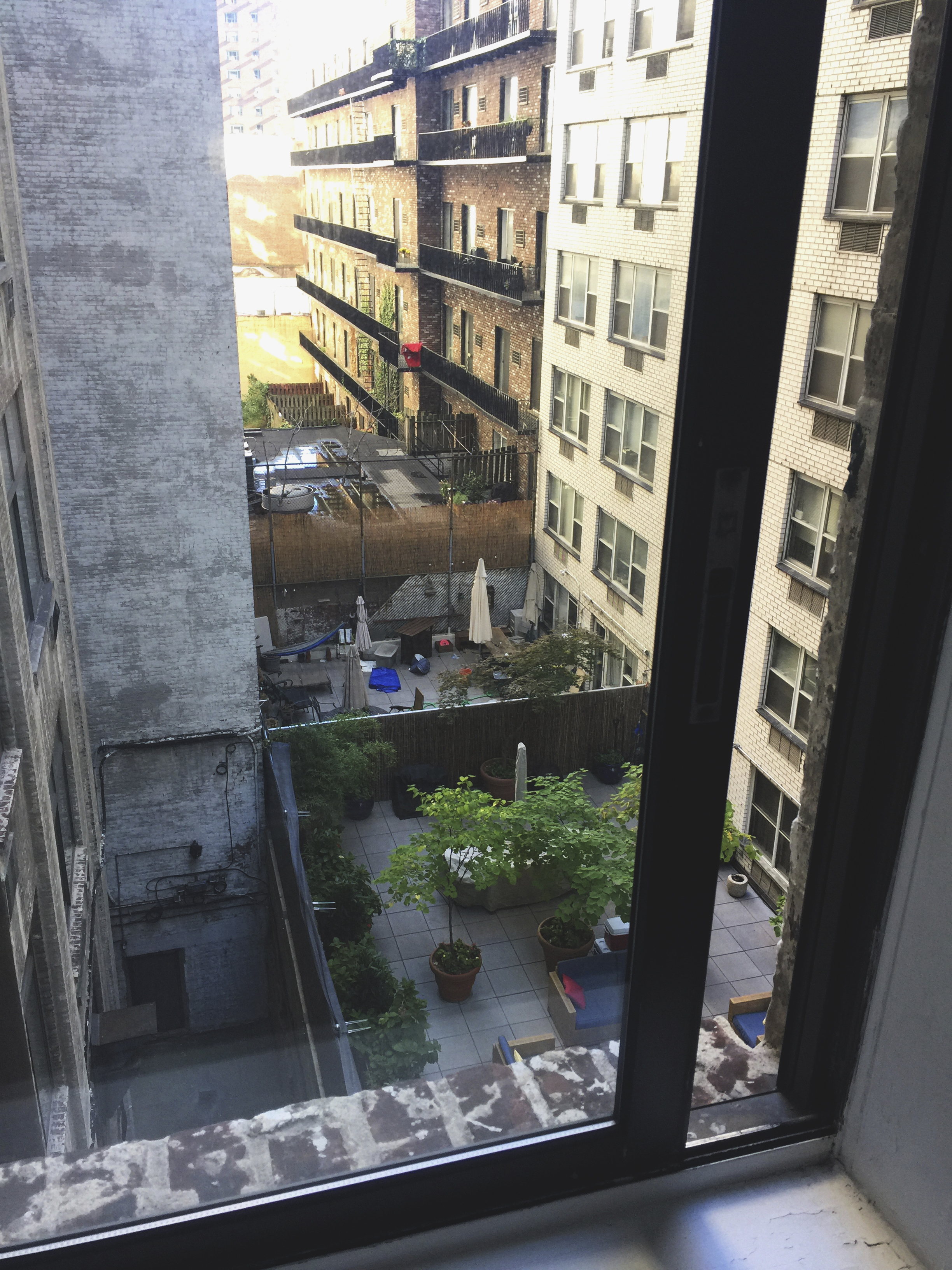 View out our bedroom window. Our airbnb was so lovely! Perfect location in the middle of Manhattan.