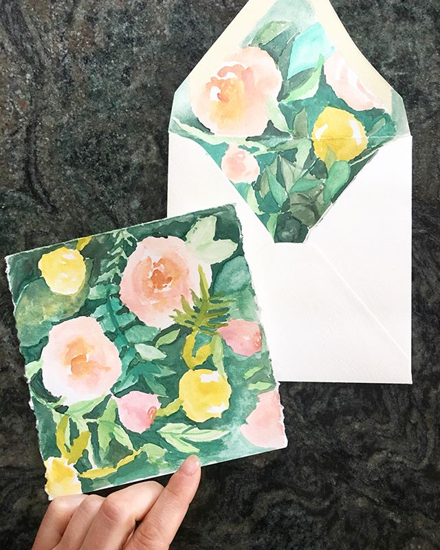 Get you some watercolor paper stationery and spruce up those letters. I'm terrible at sending mail, painting these definitely help #watercolor #painting #stationery #artistmail