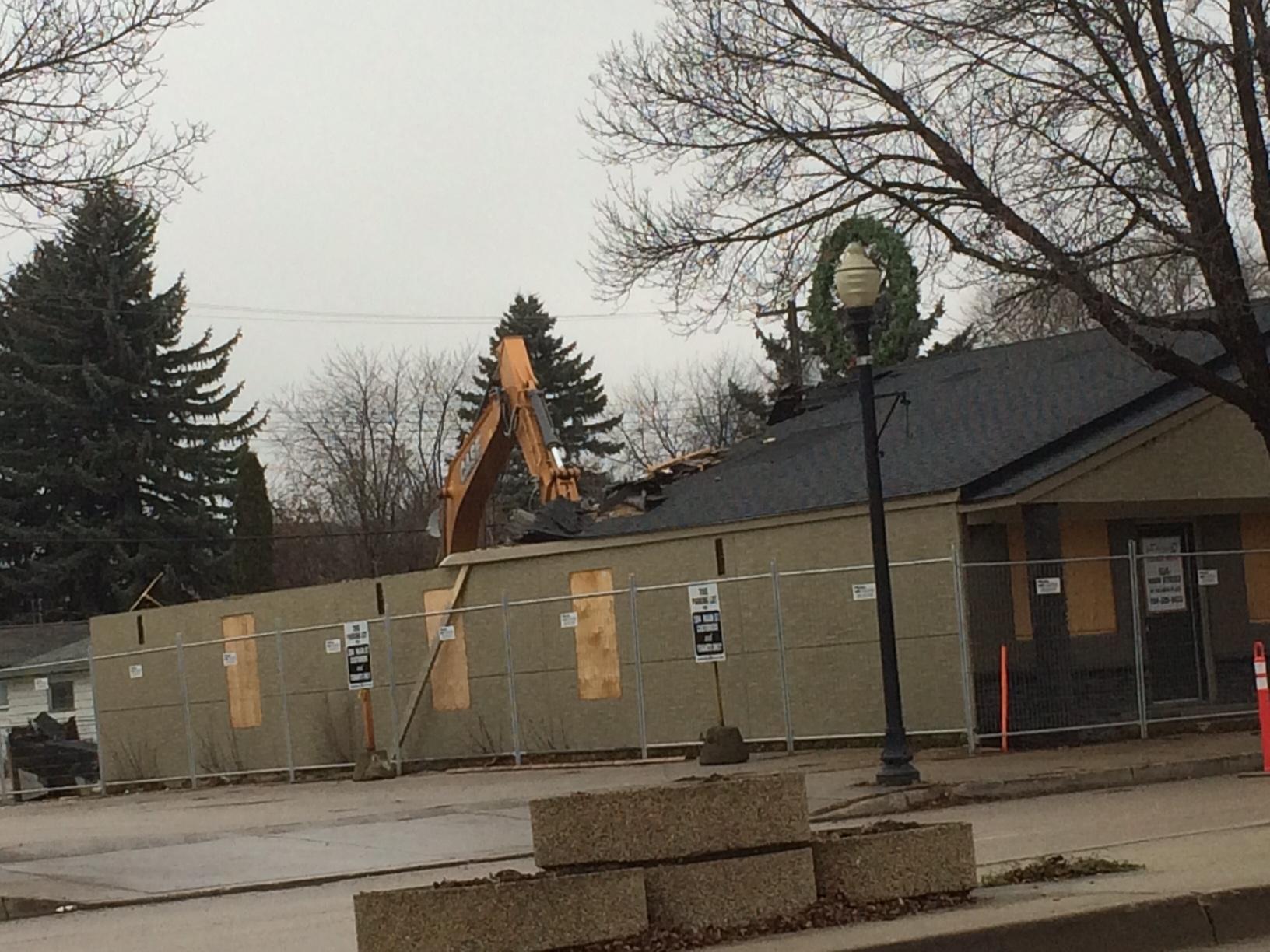 Demolition has begun at 240 Main Street. November 23, 2016