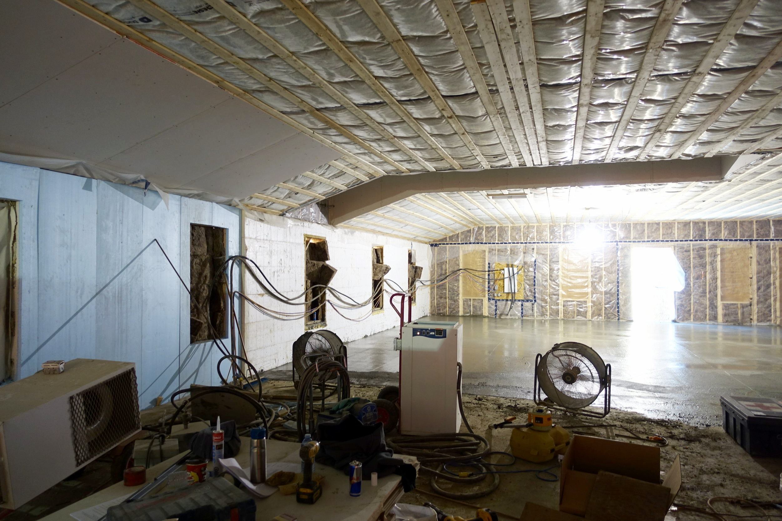 Here is a current view of the inside which will eventually turn into our beautiful new office space.