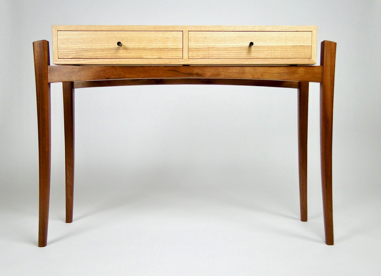 "Dylan Hall Table | Mahogany, Ash, Wenge | 29.75""H, 12.5""W, 40.5""L"