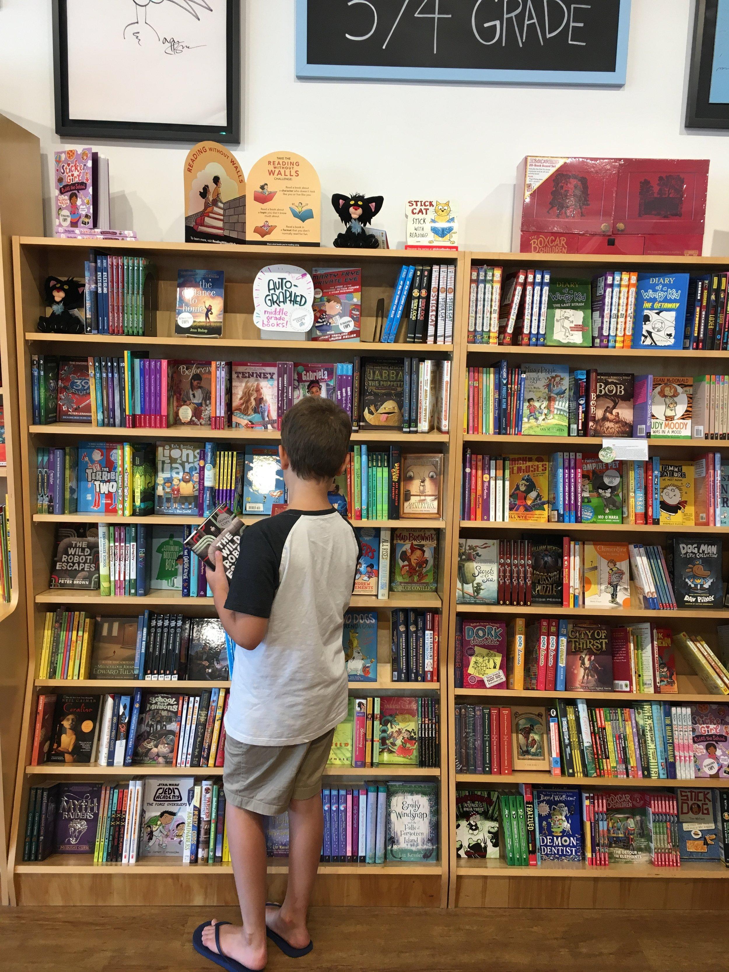 emmett inside Blue Manatee Books.JPG